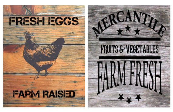 Country Farm Prints - Wall Art - Fresh Eggs - Mercantile - Farm Fresh