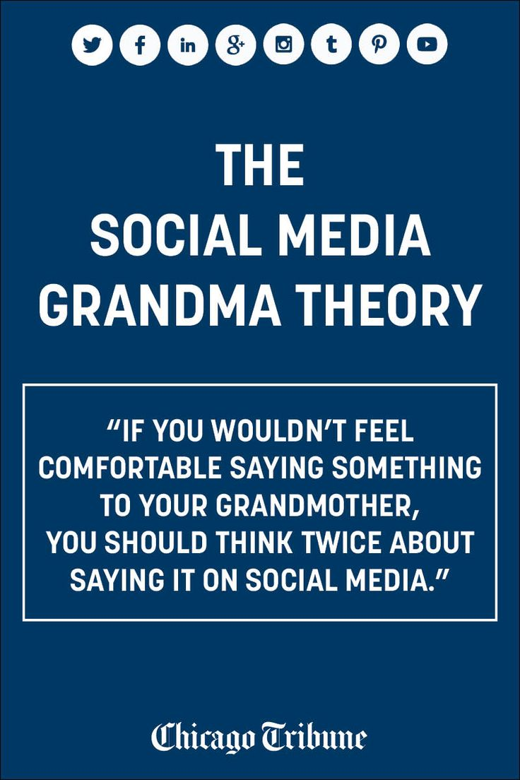 Scott Kleinberg's social media grandma theory: How to watch your mouth and remain appropriate on social media.
