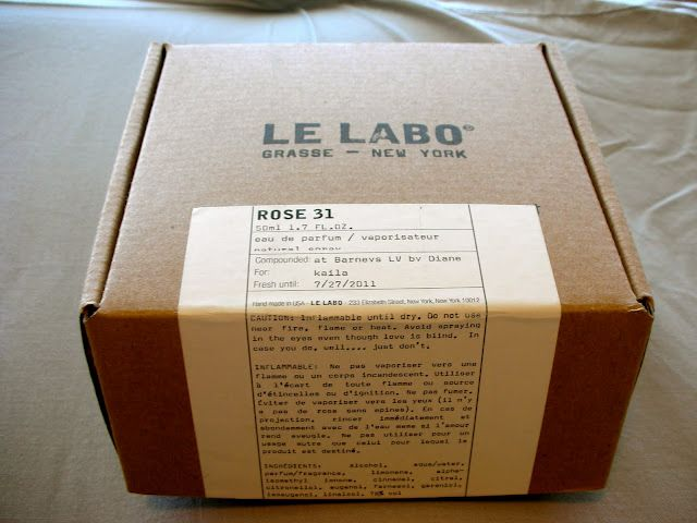 le labo. - + a sticker telling the brand story