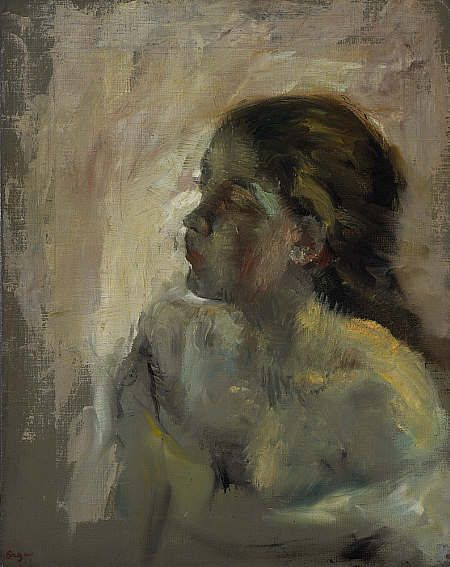 Edgar Degas - A Study of a Girl's Head Late 1870s http://www.nationalgalleries.org/collection/artists-a-z/D/3051/artist_name/Edgar%20Degas/record_id/4824#.UIxKkcXoR1I