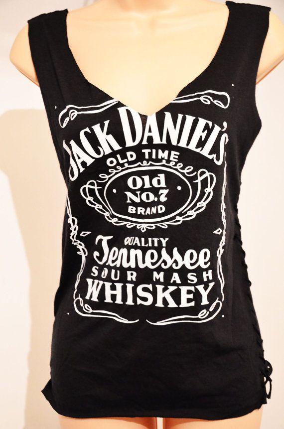 CUSTOM CUT deep V Jack Daniel's black Jack Daniels by VixenObscure