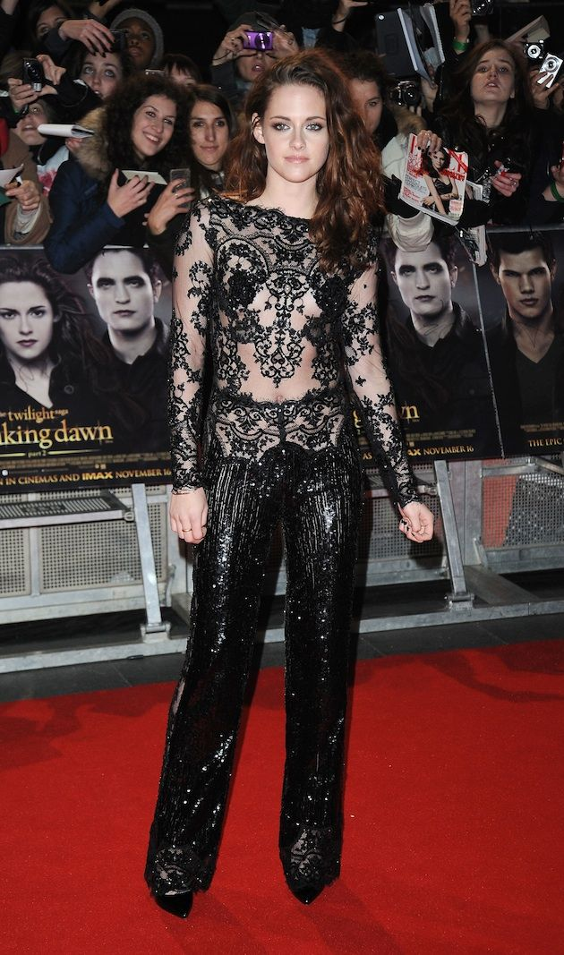 """Kristen Stewart Really Making a Point of Wearing """"Naked"""" Zuhair Murad Red Carpet Pieces - theFashionSpot"""