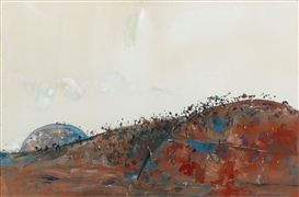 Artwork by Fred Williams, LYSTERFIELD LANDSCAPE, Made of Gouache on paper