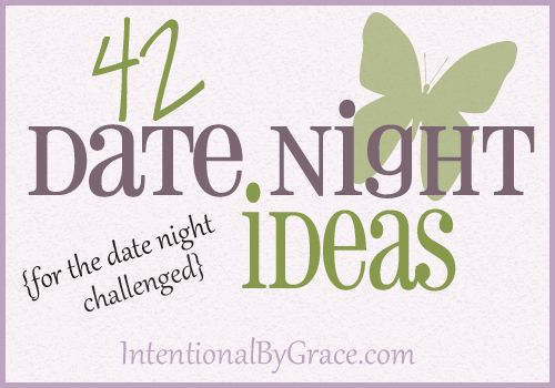 42 date night ideas! {21 date night in and 21 date night out}. also great ideas for friends!! Doesnt all have to be with that special person! lol