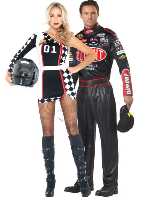 NASCAR: Adult First Place Racer ($44.99) & Adult Jeff Gordon Nascar- ONLINE ($49.99) Couples Costumes - Party City