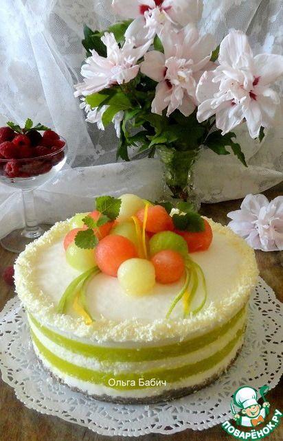 Йогуртовый торт с дыней ингредиенты