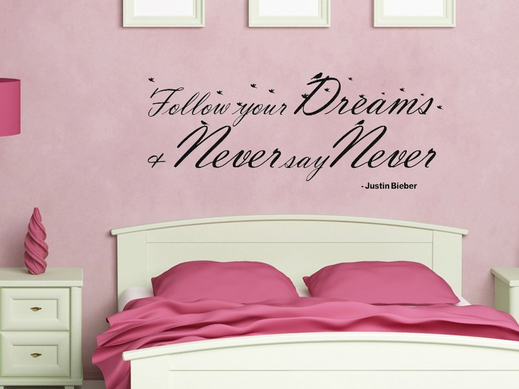 Wall Decal Justin Bieber Quote Never Say Never By Walladorn, $32.99 Part 93