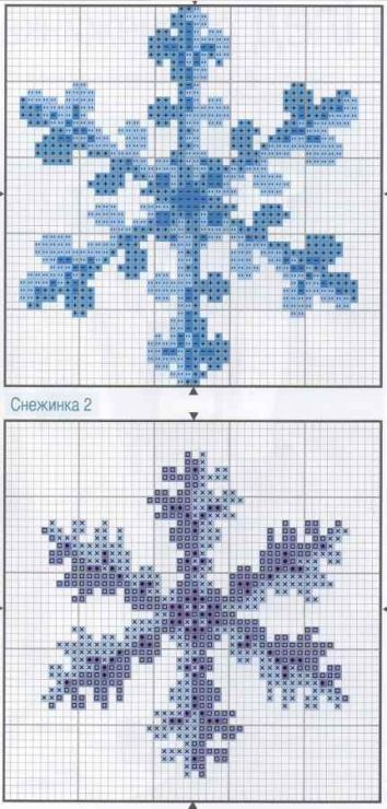 Snowflake perler bead patterns