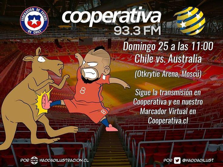 No te pierdas ningún detalle del duelo de Chile y Australia por Cooperativa