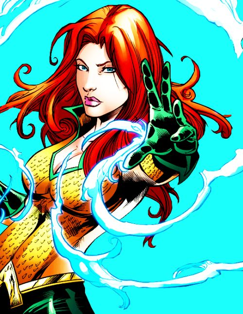 """Aquakinesis. I am literally draining the water out of you. Water is mine to control."" Queen Mera in Aquaman #52"