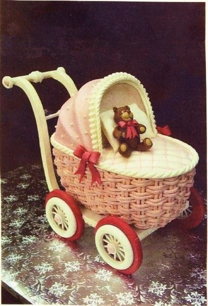 Cake Decorating Baby Carriage : 482 best Baby Shower Cakes images on Pinterest Cakes ...