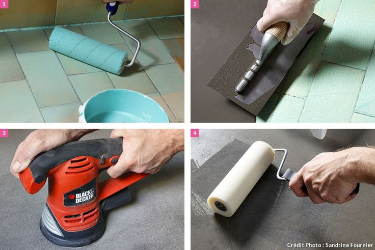 Compo des étapes pour créer un sol en béton ciré