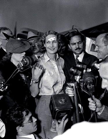 Beryl Markham, britische Fliegerin, die als erster Mensch alleine den Atlantik überquerte und zwar von England aus