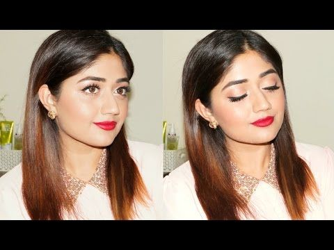 Easy Red Lip Party Makeup (Video)