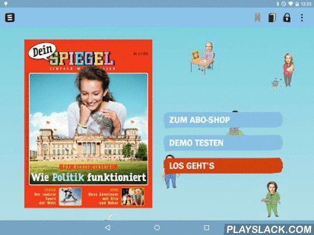"""Dein SPIEGEL  Android App - playslack.com , """"Dein SPIEGEL"""" ist das Nachrichten-Magazin für junge Leser zwischen 8 und 14 Jahren.Jeden Monat stellt die Redaktion wichtige Themen aus Politik, Natur, Sport, Wirtschaft und Kultur vor – mit einem tollen Mix aus Reportagen, Berichten, Comics, Rätseln und kleinen Spielen für zwischendurch.Die Redaktion von """"Dein SPIEGEL"""" wird dabei von SPIEGEL-Redakteuren aus allen Ressorts von Europas größtem Nachrichten-Magazin unterstützt…"""