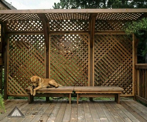 17 best images about uses for wood lattice on pinterest for Wood patio privacy screens