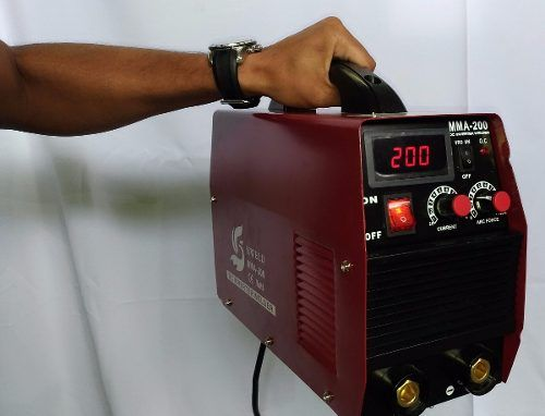 maquina de solda inversora tig eletrodo mma200 13mm digital