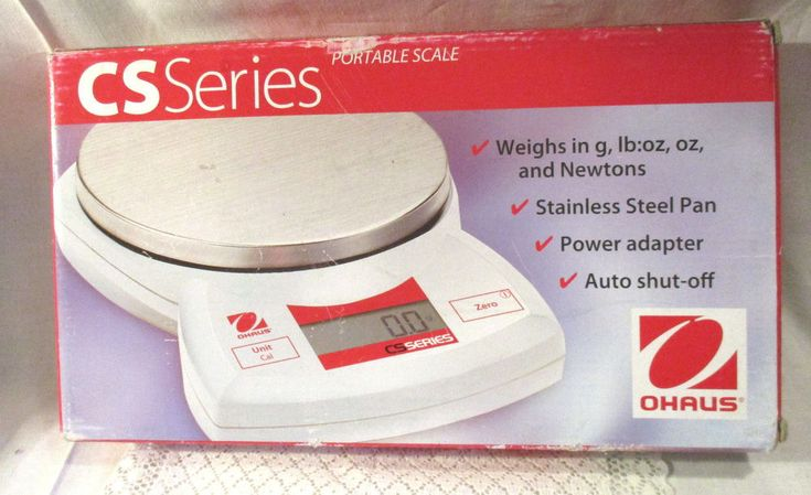 OHAUS CS SERIES PORTABLE SCALE CS2000-001–NEW! WEIGHS IN g, lb:oz, & Newtons #Ohaus