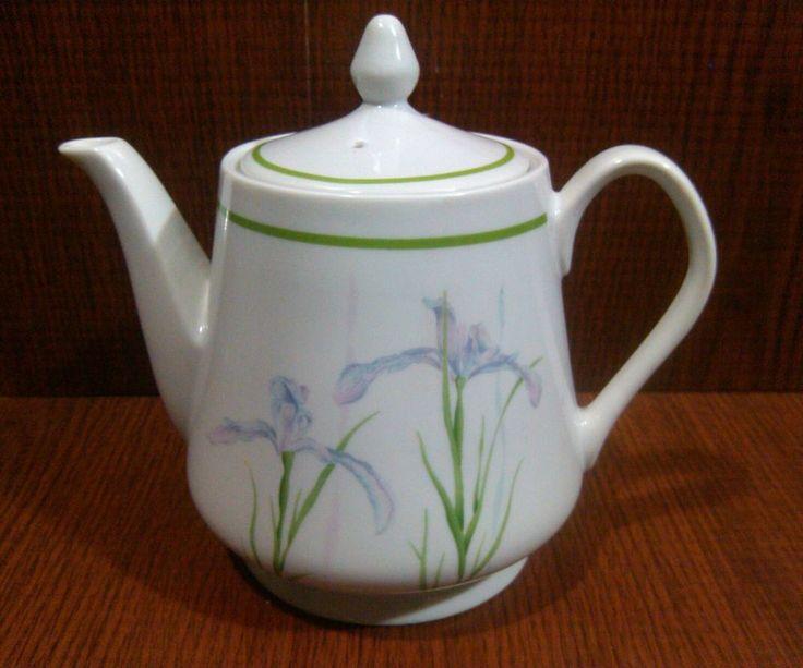 Shadow Iris Teapot Tea Pot Lid Corning Ware Corelle