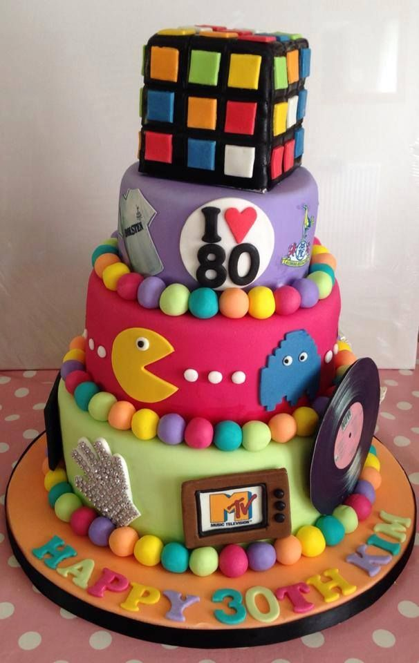 Totally 80s cake!  Love it!  Want it!!!