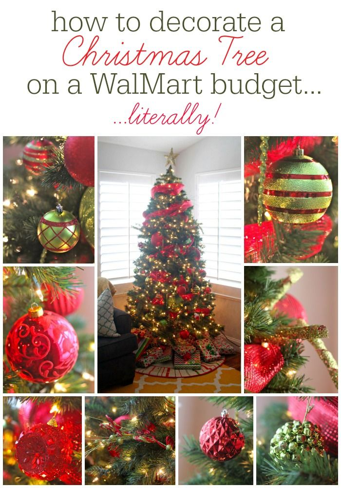 How To Decorate A Christmas Tree on a WalMart Budget....Literally!  Love these tips and tricks!