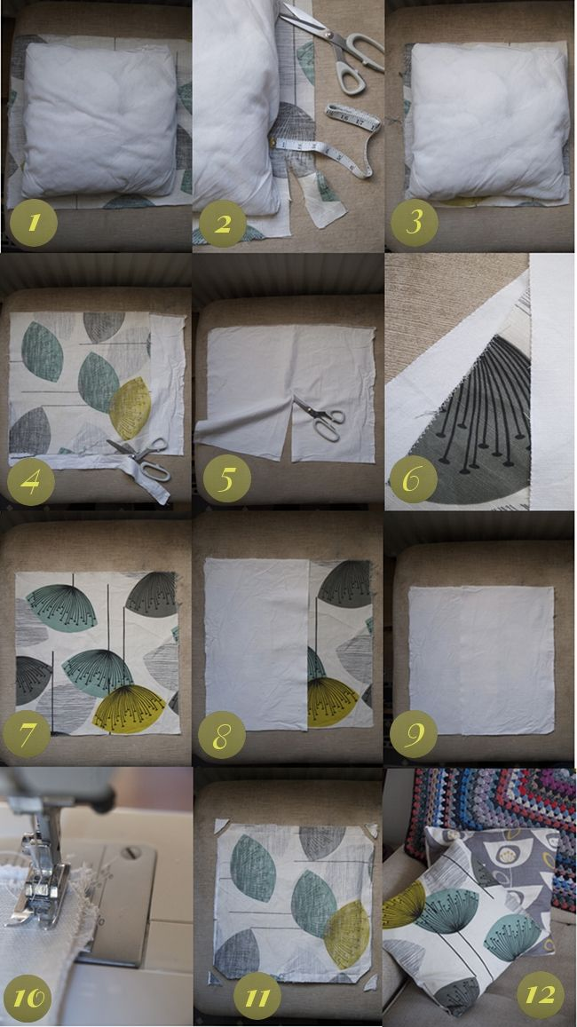Make your own envelope pillow case via Randomly Happy
