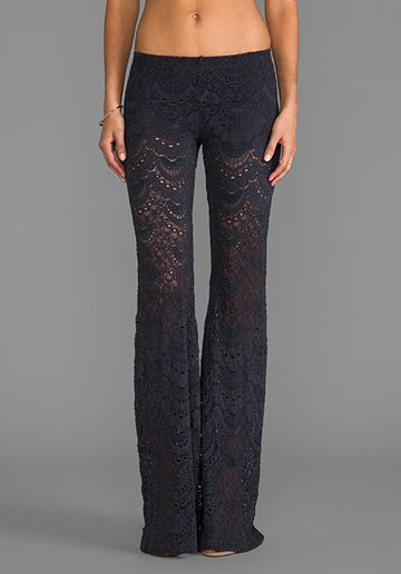 NIGHTCAP Spanish Bell Pant in Charcoal