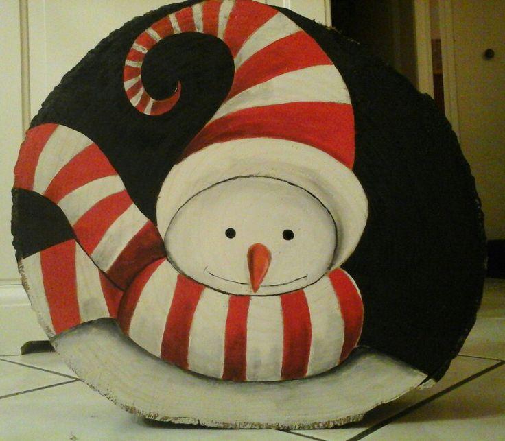 Bonhomme de neige rouge en acrylique