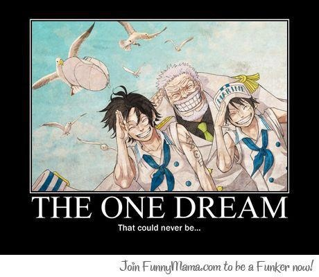 One Piece anime_ The feels_ Dream_ Ace, Garp, Luffy