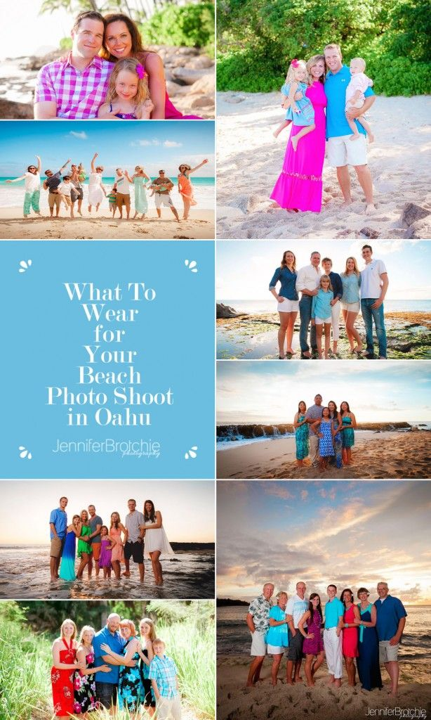 What to Wear for your Oahu Beach Photo Shoot, Wardrobe and Color Schemes for Beach Photo Session in Hawaii www.jenniferbrotchie.com
