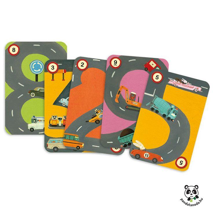 Rallye számolós kártyajáték Djeco | Pandatanoda.hu Játék webáruház