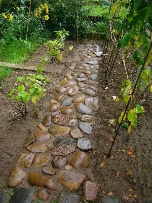 """Work a bag of dry concrete mix into the soil where stone is to sit, lay stone, water it all in so it sets just like Jello only harder!"""""""