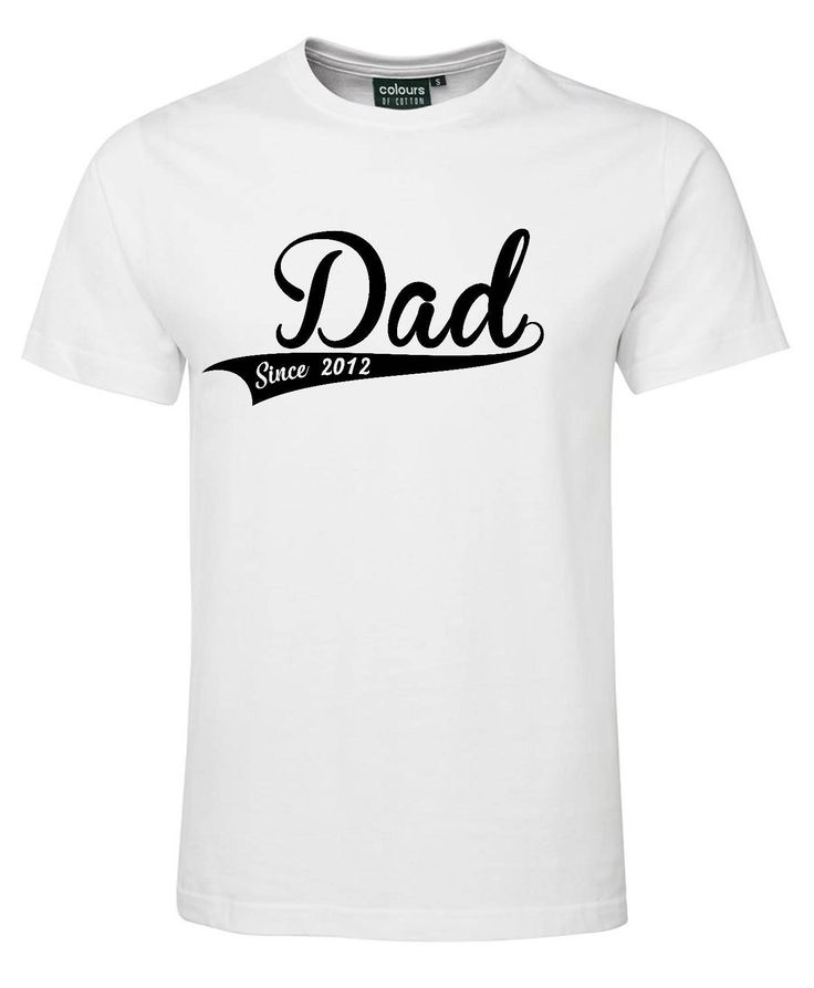 Dad Fathers Day Shirt - Custom Year by HeroesAndPrincesses on Etsy