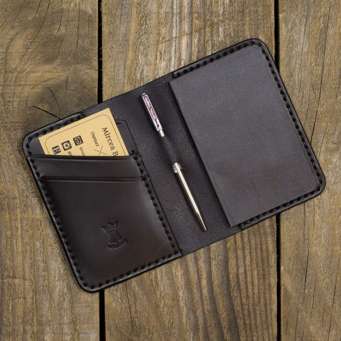 Triple black combo for this pocket notebook wallet. Tomorrow it will fly to its new owner.