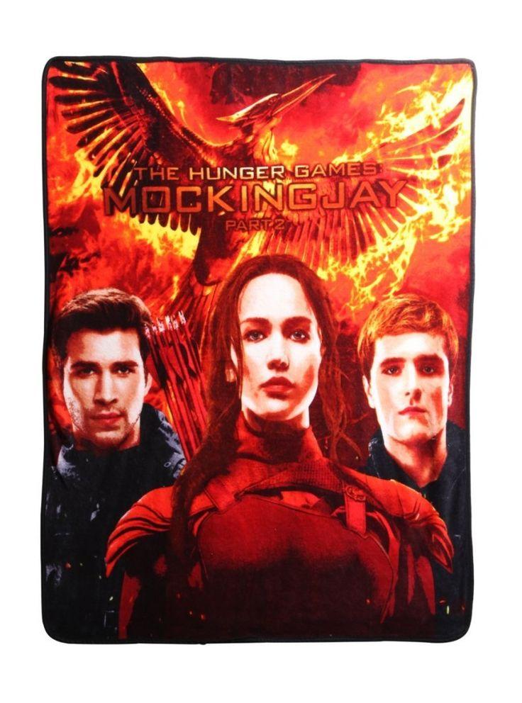 Mockingjay Fleece Throw Cozy up to Katniss and Peeta of The Hunger Games: Mockingjay with this super comfy fleece blanket.