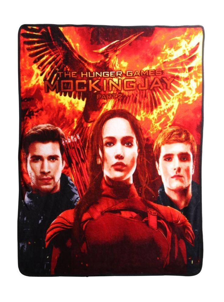 Mockingjay Fleece Throw Cozy up to Katniss and Peeta of The Hunger Games: Mockingjay with this super comfy fleece blanket.
