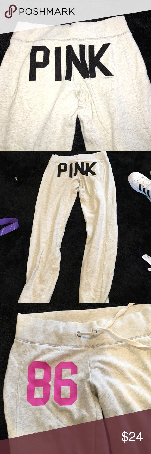 "PINK sweatpants Discontinued. ""PINK"" on butt PINK Victoria's Secret Pants Track Pants & Joggers"