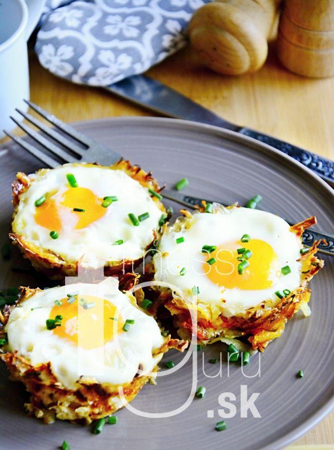 Zapečené vajíčka v zemiakových hniezdočkách