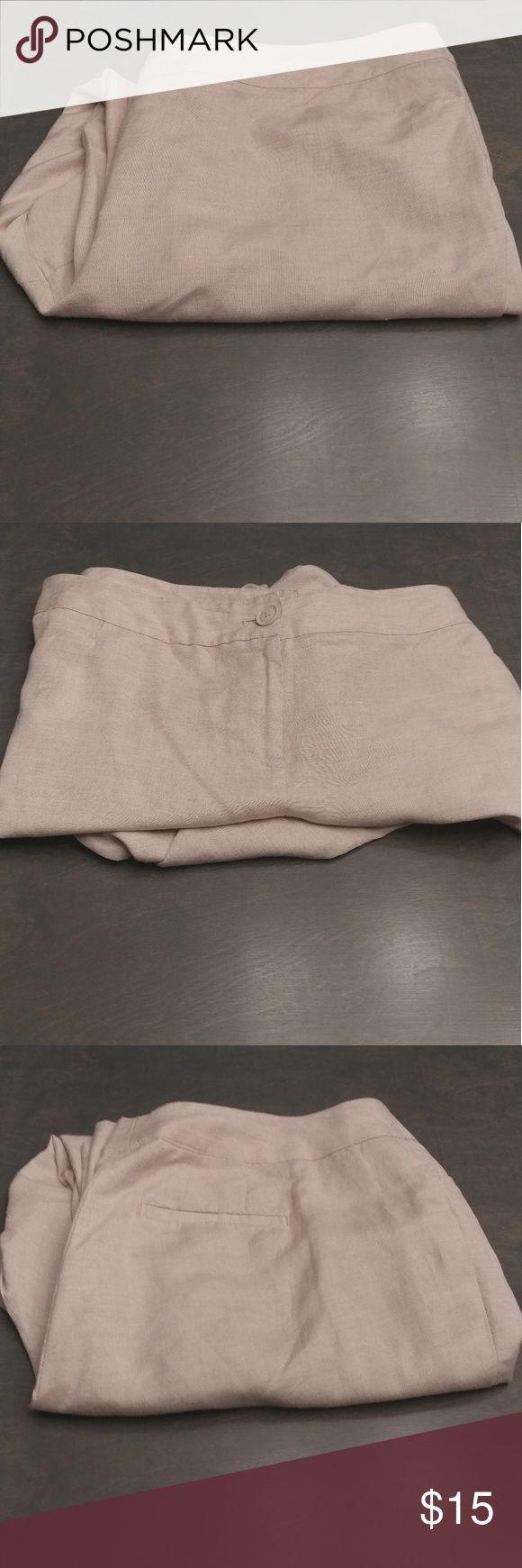 "Lane Bryant Trousers Pants Plus Size 22 Beautiful Off White Cream Pants  44"" Waist 30"" Inseam  Front Pockets  Linen Rayon Bundle and Save Lane Bryant Pants Trousers"