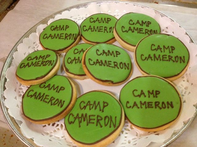 Camping Cookies to add to your camping party! - by Yorkshire Pudding Catering