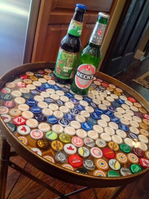 Theta Chi Beer Cap Table: For theta chi fundraiser.  candacefrances: beer cap table