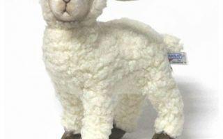 Hansa White Kid Sheep Lamb   Farmhouse   Kids Toys And Games   inside White Lamb Stuffed Animal