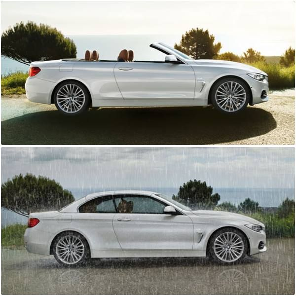 Works fine, even in bad weather. The first-ever BMW 4 Series Convertible – with hardtop.