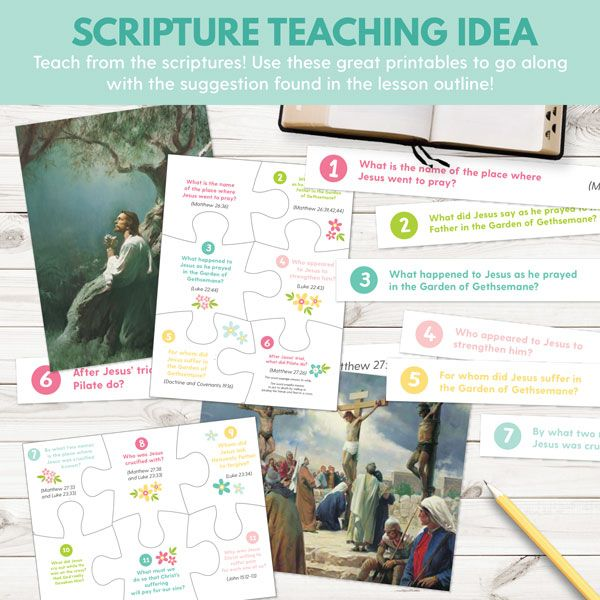 2018 Primary Sharing Time Ideas for March Week 2 - Because of Christ's Atonement, I Can Repent and Live With God Again (Primary Games, teaching ideas, and more!)