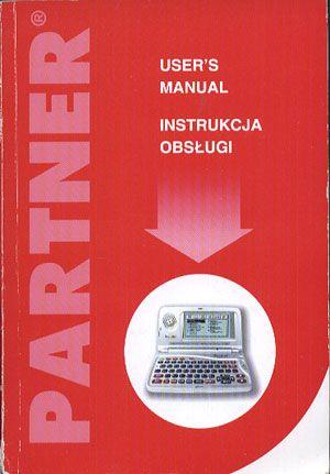 Partner. Instrukcja obsługi. User's Manual, Ectaco, b. r. wyd., http://www.antykwariat.nepo.pl/partner-instrukcja-obslugi-users-manual-p-13881.html