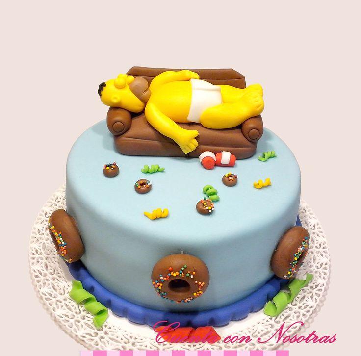 Torta Homero Torta Simpson Simpson Cake