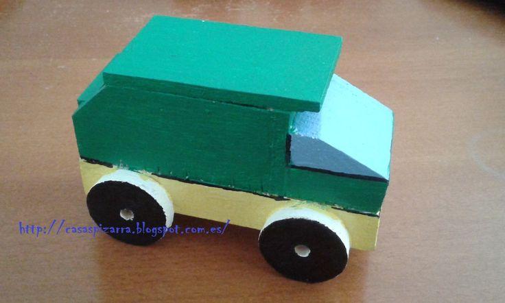 Camión de la Basura. http://casaspizarra.blogspot.com.es/2015/04/camiones-de-madera_19.html