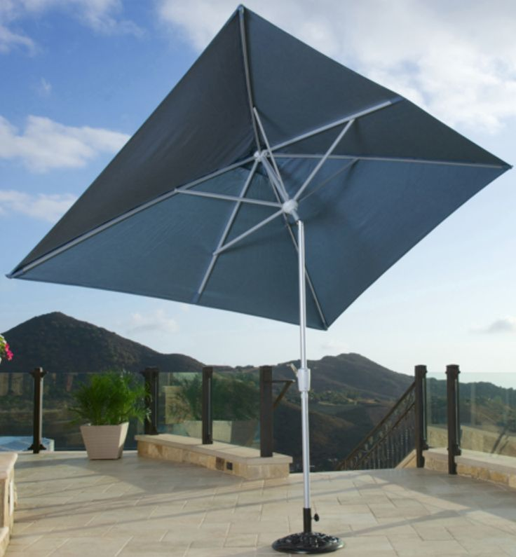 The new Portofino Dining Umbrella combines unparalleled form, style and function with quality and superior value. This 6 x 10 foot rectangular footprint dining umbrella is designed to provide the right amount of shade on any 6-8 person rectangular dining tables.