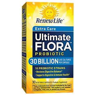 Ultimate Flora Extra Care Probiotic 30 BILLION (30 Veggie Caps)  by Renew Life at the Vitamin Shoppe