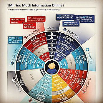 Too much information online Source: anewdomain.net #socialmedia #snapchat #snap #mobiledevice #images #connected #value #worth #followers #twitter #facebook #linkedin #network #data